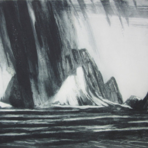 Making for Ornes, Nordland - Etching and Carborundum - 2018 - 16x25 ins